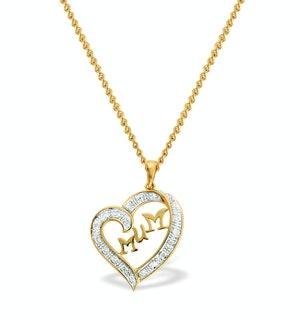0.14ct Diamond and 9K Gold Mum Necklace - RTC-D3318