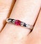 Ruby 0.22ct And Diamond 9K White Gold Ring - image 3