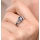 Sapphire 1.25ct And Diamond 9K White Gold Ring - image 3