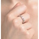Rae Half Eternity Ring 0.20CT Diamond 9K White Gold - image 4