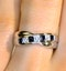 Sapphire 0.45ct And Diamond 9K White Gold Crossover Ring - image 4