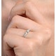 Sidestone Engagement Ring With 0.33ct of Diamonds set in 9K White Gold - image 3