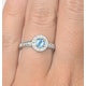 Blue Topaz 0.35CT And Diamond 9K White Gold Ring - image 2