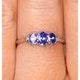 Tanzanite 0.59CT And Diamond 9K White Gold Ring - image 3