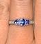 Tanzanite 0.59CT And Diamond 9K White Gold Ring - image 4