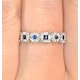 Sapphire 0.18ct And Diamond 9K White Gold Ring - image 2