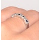 Sapphire 0.18ct And Diamond 9K White Gold Ring - image 3