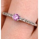 0.16ct Pink Sapphire and 0.10ct Diamond Ring 9K White Gold - image 3