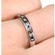 Sapphire 0.12ct And Diamond 9K White Gold Ring - image 4