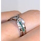 Emerald And 0.12CT Diamond Ring 9K White Gold - image 4