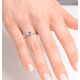 Tanzanite 0.35CT And Diamond 9K White Gold Ring - image 3