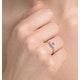 Tanzanite 0.35CT And Diamond 9K White Gold Ring - image 2