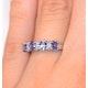 Tanzanite 0.76CT And Diamond 9K White Gold Ring - image 2