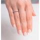 Tanzanite 0.18CT And Diamond 9K White Gold Ring - image 3