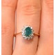 Emerald 0.83ct And Diamond 9K Gold Ring - image 3