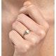 Aquamarine 0.70CT And Diamond 9K Yellow Gold Ring - image 2