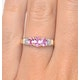 Pink Sapphire and 0.02ct Diamond Ring 9K Yellow Gold - image 4