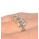 Aquamarine 1.65CT And Diamond 9K Yellow Gold Ring - image 3