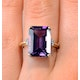 Amethyst 6.40ct And Diamond 9K Gold Ring - image 3