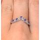 Diamond and Tanzanite 0.35CT Wishbone Ring in 9K White Gold - image 4