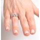 Aquamarine 0.80CT And Diamond 9K White Gold Ring - image 3