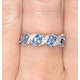 Blue Topaz 0.98CT And Diamond 9K White Gold Ring - image 2