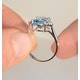 9K White Gold Diamond and 2.60ct Blue Topaz Ring - image 2