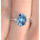 9K White Gold Diamond and 2.60ct Blue Topaz Ring - image 3