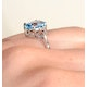 9K White Gold Diamond and 2.60ct Blue Topaz Ring - image 4