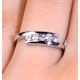 9K White Gold Diamond and Pink Sapphire Ring - image 3