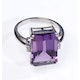 Amethyst 6.40ct And Diamond 9K White Gold Ring - image 3