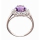 Amethyst 1.65ct And Diamond 9K White Gold Ring - image 2