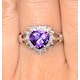 Amethyst 1.65ct And Diamond 9K White Gold Ring - image 3