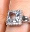 Aquamarine 1.42CT And Diamond 9K White Gold Ring - image 3