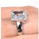 Aquamarine 1.42CT And Diamond 9K White Gold Ring - image 4
