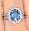 Blue Topaz 3.42ct And Diamond 9K White Gold Ring - image 4