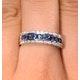 Sapphire 0.16ct And Diamond 0.16ct 9K White Gold Ring - image 3