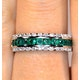 Emerald and Diamond Eternity Ring 0.56ct in 9K White Gold - image 4