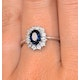 Sapphire 7 x 5mm and Diamond 9K White Gold Ring  E5891 - image 4