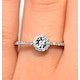 Halo Ring with 0.11ct of Diamonds set in 9K White Gold - image 3