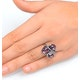 4.75ct Amethyst 0.14ct Diamond and 9K White Gold Ring - E5927 - image 4