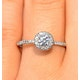 Ella Halo Diamond Engagement Ring 0.50ct set in 9K White Gold - image 3