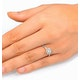 Ella Halo Lab Diamond Engagement Ring 0.55ct in 9K White Gold - image 4