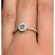 Emerald Halo Martini 0.25CT Diamond Ring in 9K Gold E5966 - image 4