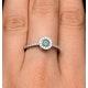 Emerald Halo Martini 0.25CT Diamond Ring in 9K White Gold E5967 - image 4