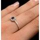 Sapphire Halo Martini  0.25CT Diamond Ring in 9K Gold E5968 - image 4