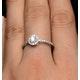 Halo Engagement Ring Martini Diamond 0.45CT Ring 9K White Gold E5973 - image 4