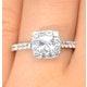 Halo Engagement Ring Aria 1.30ct SI2 Princess Diamond 18K White Gold - image 4