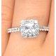 Halo Engagement Ring Aria 1.30ct VS1 Princess Diamond 18K White Gold - image 4