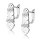0.37ct Diamond Pave Heart Earrings in 9K White Gold - image 2